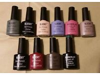 10 Bluesky Hybrid Nails Polish ( used 2-3 times ) All in very good condition!