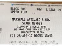 3 xShawn Mendes Tickets for Manchester, 28/4