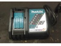 New 240v Makita battery charger with used 3amp battery