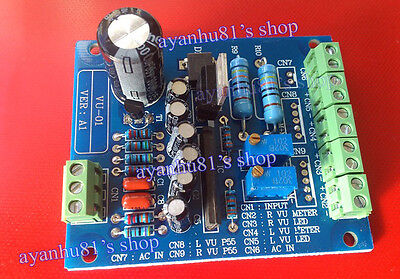 Dual Stereo Vu Meter Driver Board Amplifier Db Audio Level Ac 12v Input Backlit