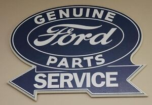 Ford sign with Mustang plate