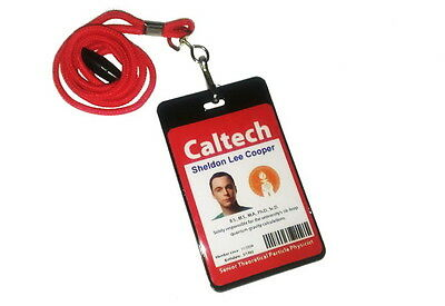 two sided The Big Bang Theory Sheldon Cooper ID Badge Halloween Costume prop - Big Bang Theory Halloween