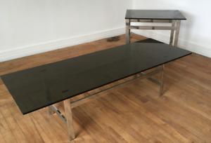 Tables de salon avec plateau en verre