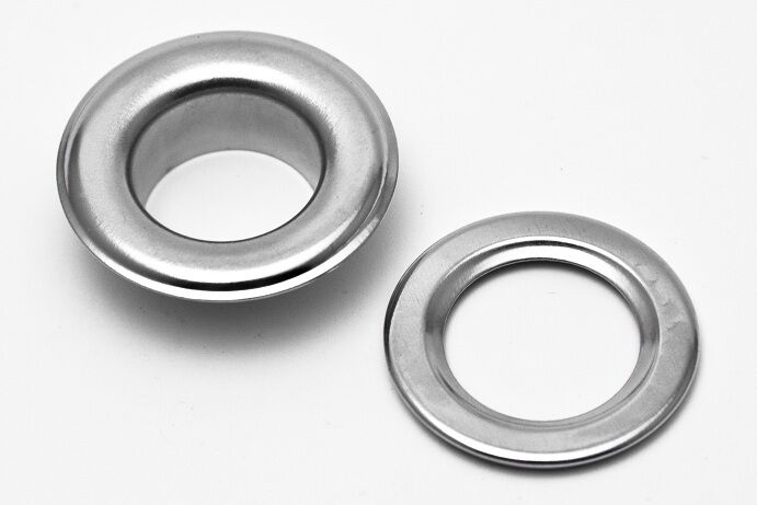 "1000 #2 3/8"" GROMMETS & WASHERS METAL,NICKLE PLATED Ideal for Posters, Tags,BAGS"