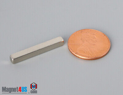 25mm X 3mm X 3mm 1 X 18x 18 Rare Earth Bar Neodymium Block Magnets N4552