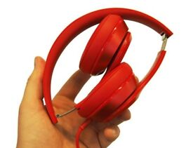 Beats by Dre. Solo2 Bluetooth Wireless Headphones with Beats aux cord, charger and portable case.