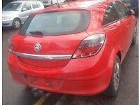 Vauxhall Astra Tailgate In Red Breaking For Parts (2008)