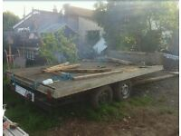 12 x 7 ft flat bed trailer