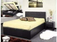 ottoman storage bed - double gas lifted - available in 4ft 6 5ft with thick orthopedic mattress