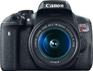 Canon EOS Rebel T6i  W/18-55mm IS STM Lens