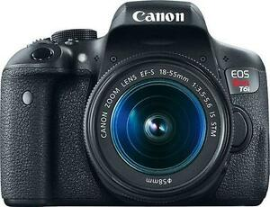 **CAMERA CLEARANCE SALE**  Canon EOS Rebel T6i  W/18-55mm IS STM Lens