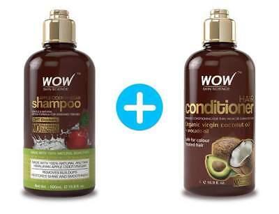 WOW Apple Cider Vinegar Shampoo + WOW Hair Conditioner Set -  (16.9 fl oz each)