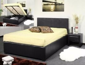 💫💫 PREMIUM QUALITY 💫💫 FAUX LEATHER STORAGE BED IN 3FT SINGLE, 4FT6 DOUBLE & 5FT KING SIZE