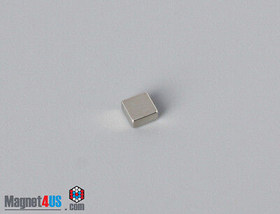 50pcs Small Crafts Square Magnets Rare Earth Neodymium 18 X 18 X 116 Thick