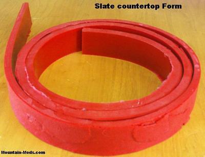1 Concrete Cement Flat Slate Texture Countertop Edge Form Mold Liner Mat New