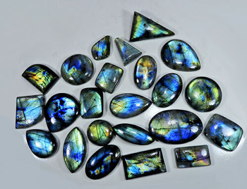 AA++ Natural Multi Labradorite Mix Shape Cabochon Loose Gemstone Wholesale Lot