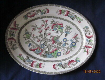 JOHNSON BROTHERS INDIAN TREE SMALL OVAL PLATTER OR STEAK PLATE 29CM VGC