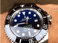 Rolex Deepsea Blue edition with heavy glidelock bracelet