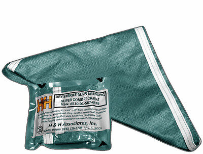 H&H SUPER COMBAT STERILE CRAVAT/BURN DRESSING (Super Sterile)