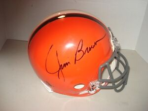 JIM-BROWN-HAND-SIGNED-AUTOGRAPHED-BROWNS-RIDDELL-FOOTBALL-HELMET-AUTHENTIC-AUTO