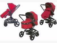 New Baby Stuff for Sale - 3 Stage Pram, Car Seat, Pram Adapter and Rocker