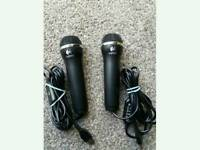 2 Brand New Logitech Rock band USB Microphones