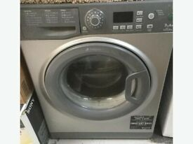 12 Hotpoint WMFG741 7kg 1400Spin Silver LCD A+ Rated Washing Machine 1YEAR WARRANTY FREE DEL N FIT