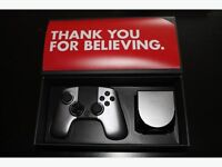 Ouya game console boxed with 2 official Ouya controllers & can run Kodi & Emulators for retro games
