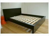 Ikea Malm double bed frame brown/Black