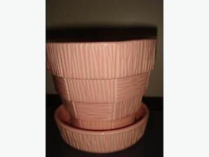 Vintage Pink Mc Coy Pottery Plant Pot
