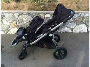 Poussette double City select noire de baby jogger