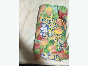 Bright Fabric Flower Print Shower Curtain *REDUCED*