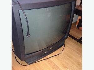 3 TUBE STYLE TELEVISIONS + VCR PLAYER