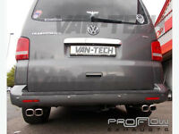 VW Transporter T5 custom exhaust with dual twin Tail pipes