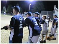 Seeking experienced male softball players (Slo pitch - Orleans)