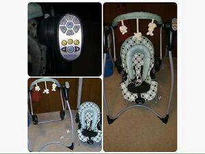 Chaise vibrante/balançoire swing and bounce 3/1