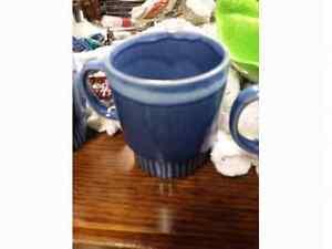 Vintage 6 Blue Drip Paint Mugs Regina Regina Area image 3