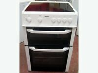 98 Beko 60cm Double Oven 4 Ring Ceramic Hob Fan Oven Electric Cooker 1 YEAR GUARANTEE FREE DEL N FIT