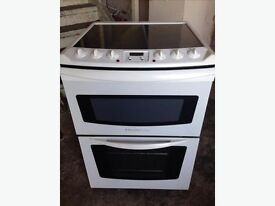 ELECTROLUX 60CM WHITE DOUBLE ELECTRIC COOKER