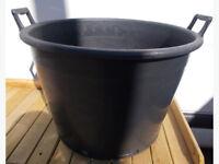 80L Garden Pot With 2 Handles Black