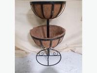 2 tier Garden Basket Stand Flower Fountain