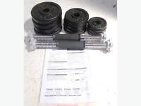 York Fitness 20KG Cast Iron Dumbell Set