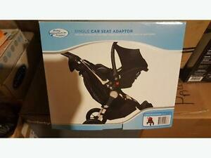 SINGLE car seat adapter