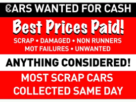 Scrap your car today! Quick collection