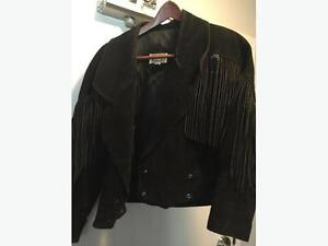 Real Leather Suede tassel jaccket