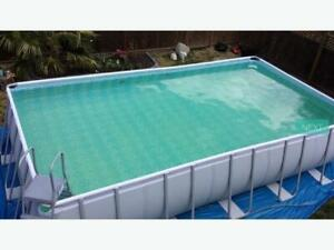 Coleman Rectangular Frame Pool, 22-ft x 12-ft x 52-in