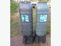 2x Slimline Water Butts