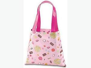 Pink Shoulder Tote Beach Bag All-Over Candy Print Brand New