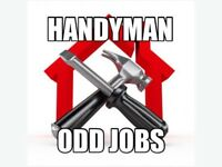 Man with truck available for odd jobs and handyman services.