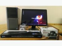 SUPER FAST SSD Dell Optiplex Business 960 Desktop PC Computer Dell SP21 HD LCD with Built-in Webcam